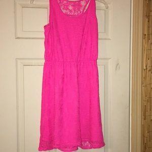 Hot pink dress, XL
